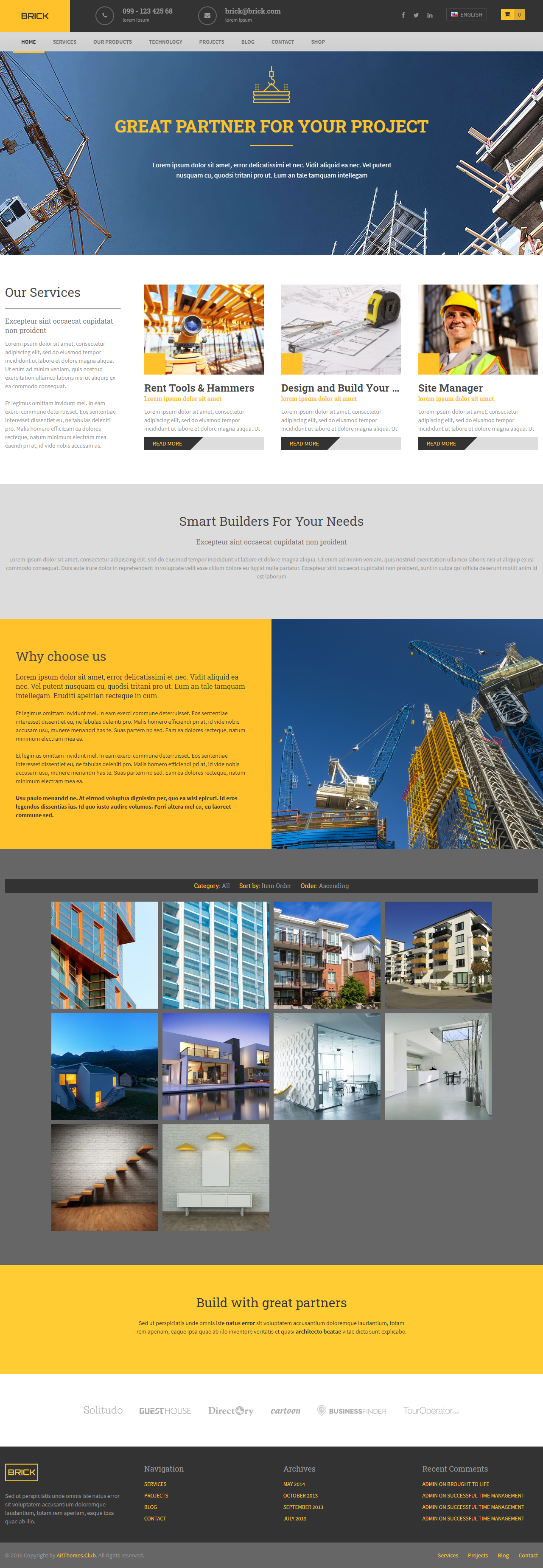 brick Wordpress Theme web design services in pune Web Design Services in Pune Theme for Builders