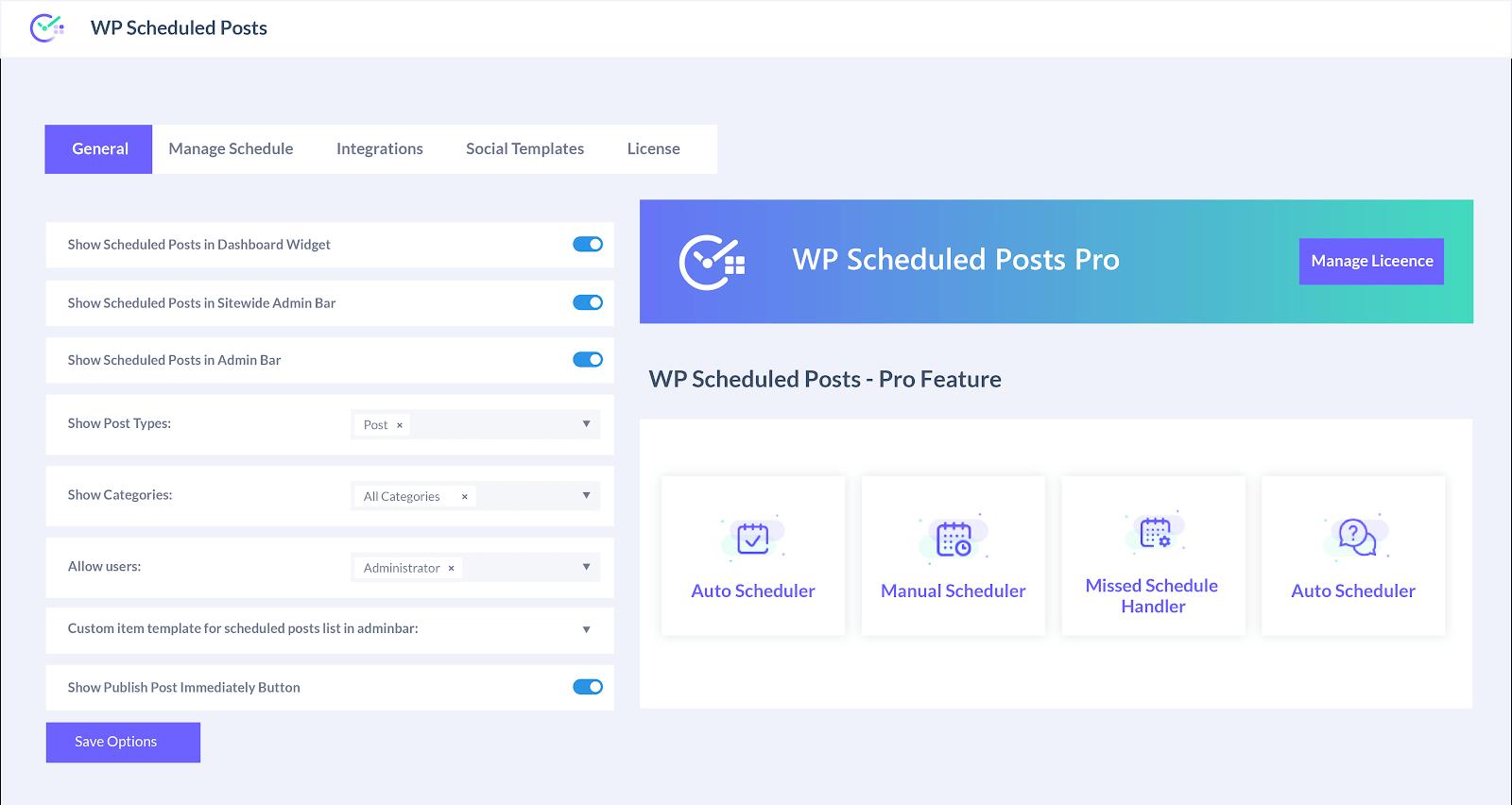 WP Scheduled post wordpress + social media automation pune WordPress + Social Media Automation wpscheduledposts 1