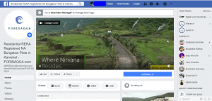 FORISAQUA Facebook Page property lead generation agency in pune Localised Digital Property Marketing / Lead Generation Pune FORISAQUA Facebook Page scr 300x144