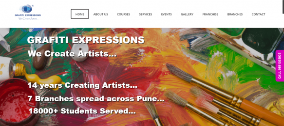 Grafiti Expressions section: case studies Section: Case Studies grafitiexpressions home page 583x260